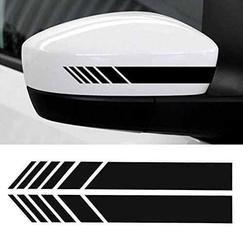 eSTORE-24 Online Marketing & Grafikdesign 2 PCS Reflektierender Auto Aufkleber Sticker Wasserdicht Scheinwerfer Aufkleber Fit fürs Auto Motorrad Folie schwarz (15x3cm)