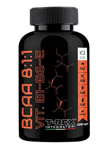 BCAA 8:1:1 200 Comprimidos de 1,3gr 100% CALIDAD KYOWA Obtenido por medio de Fermentación - Suplemento de Aminoácidos ramificados básicos y esenciales con L-Valine L-Leucine L-Isoleucine