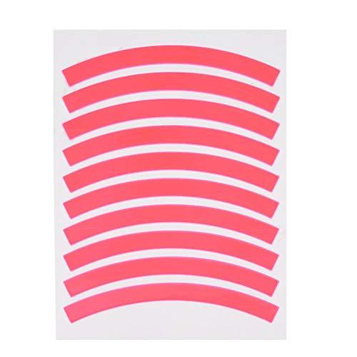Tbest Fahrrad Reflektierende Aufkleber, Fahrrad Aufkleber reflektierende Aufkleber Warnung Sicherheit Paster Hinterrad dekorative Aufkleber Fahrrad, MTB Kinder Fahrradzubehör (rosa)