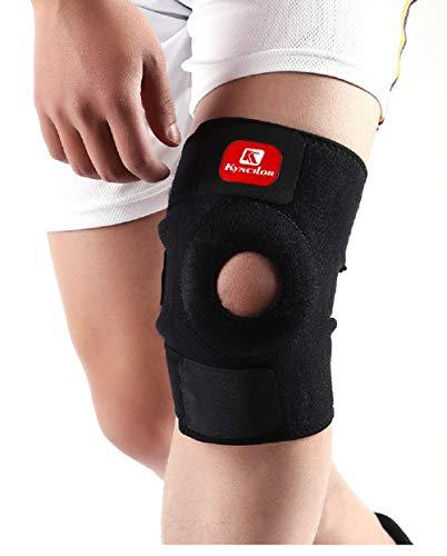 JLTPH Kniebandage mit Klettverschluss für Damen und Herren, Sportbandage Rutschfeste Einstellbare Knieorthese Knieschoner Knieschützer Schont Kniebandage Patella