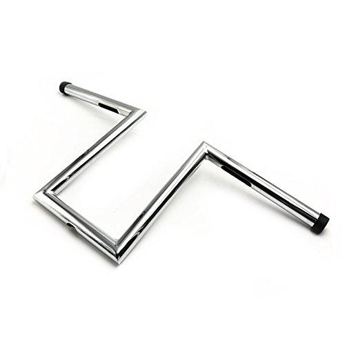 HONGK- 8' Rise 4' Pullback Ape-Hanger Z-Bars 1' Handlebars Compatible with XL Sportster Dyna Bobber [B077BXSBCR]