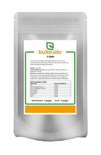 2 x 1 kg L-Lysin Pulver | Aminosäure | Lysin HCL | Lysine | 100% rein 2 kg