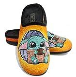 Zapatillas casa unisex Baby Yoda fan art- by Maria Latorre - Garantía de Calidad (36 EU, numeric_36)