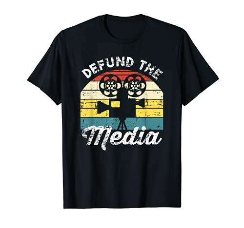 Defund The Media Social Distance Apagado Anti Fake News Camiseta