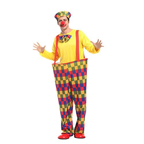 Haobing Disfraz de Payaso para Adultos Traje de Halloween Carnaval Clown Cosplay Costume