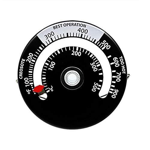 Termómetro analógico para horno, para barbacoa, acero inoxidable, mantiene la temperatura de cocción de los alimentos para la cocina, fácil lectura, monitorización, rango de medición para fumadores