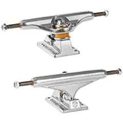 Long lasting 356 T6 Aluminum hanger and baseplate Unmatched grindabillity and kingpin clearance Less wheel bite Precision turning with Supercush bushings Set of 2 trucks
