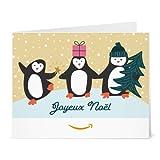 Chèque-cadeau Amazon.fr - Imprimer - Famille de pingouins