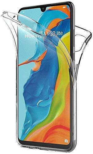 PHONE CONVERSE Funda Huawei P30 Lite Ultra Slim Doble Cara Carcasa Transparente 360 Silicona Resistente Anti-Arañazos para Huawei P30 Lite