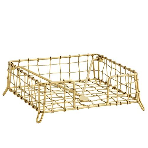 MACOSA MS27267 - Servilletero de metal dorado antiguo...