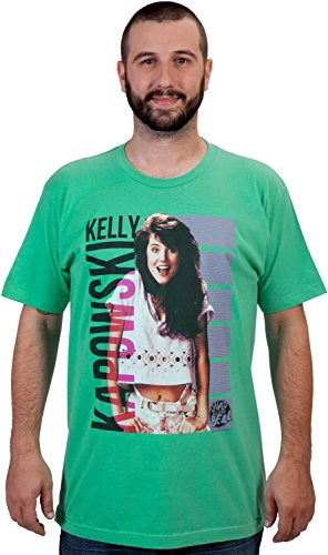 Saved by The Bell Kelly Kapowski T-Shirt - Lime Green (Small)