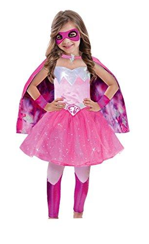 Amscan - Disfraz para niña Barbie, Rosa, 3 - 5 años