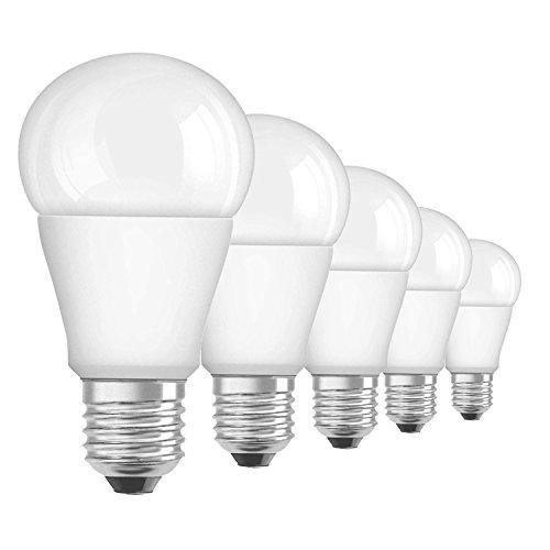 OSRAM LED-lamp E27 Superstar Classic Advanced A40 verbruik 10W vervangt 60W gloeilampvorm 2700 K warmwit A+ 806 lumen mat dimbaar 5-pack