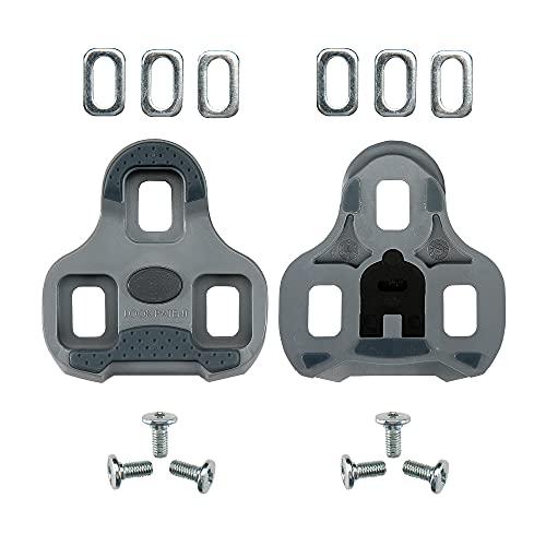 LOOK Cycle - KEO Grip Fahrrad-Cleats mit Memory-Positionier-Funktion - Kompatibel mit Allen auf dem Markt erhältlichen Pedalen - Anti-Rutsch TPU Oberfläche - 4,5° Winkelfreiheit - Farbe - Grau