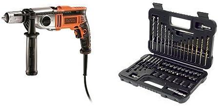 Black and Decker KR1102K-QS - Taladro percutor 1100 W con 2 velocidades mecánicas y maletín (1100 W) + A7188-XJ b - bs