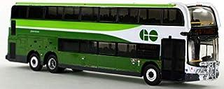Iconic Replicas GO Transit-Canada Double Deceker Diecast Bus 1:87 Scale-HO Scale Alexander Dennis