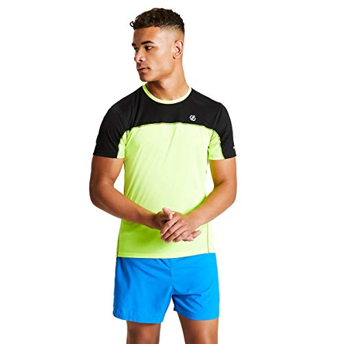 Dare 2b Notable T-Shirts/Polos/Vests Homme, Fluro Yellow/Black, FR : 2XL (Taille Fabricant : XXL)