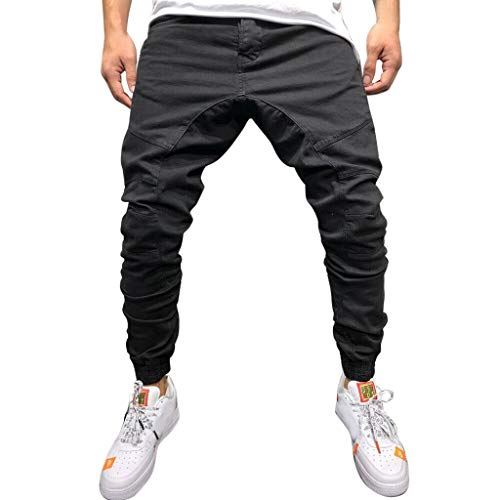 Purchase Mens Skinny Fit Track Pants, Mitiy Soild Slim Fit Tapered Workout Trousers Casual Sweatpant...