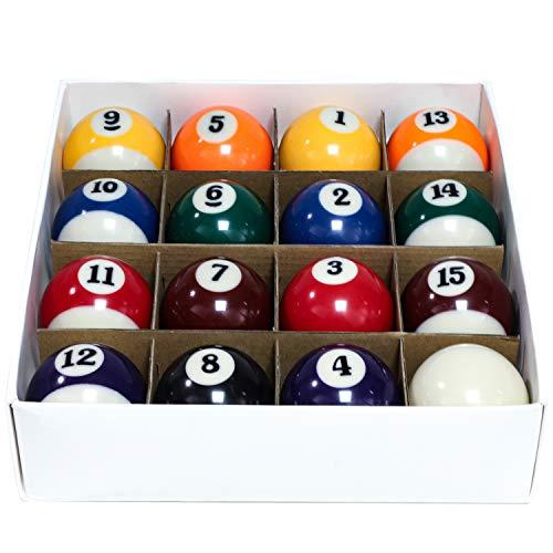 "Billiard Balls Set 2-1/4"" Pool Table Balls for Replacement (16 Resin Balls)"
