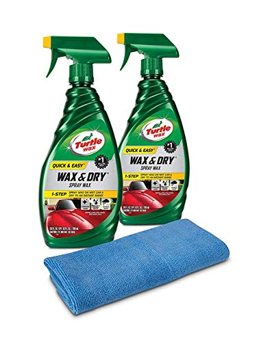 Turtle Wax 50834 1-Step Wax & Dry-26 oz. Double Pack