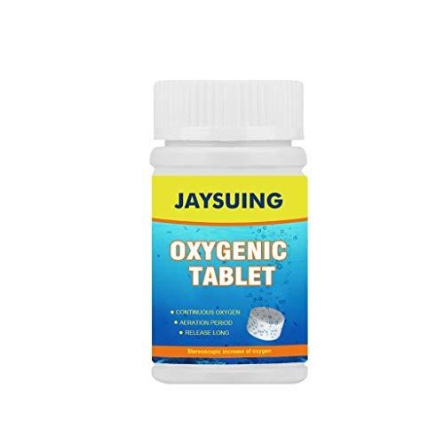 1 fles accessoires voor het vervoer van tabletten voor additieven voor visaas, vrij van zuurstof, ontkalking van nobele stoffen, reiniging van waterkwaliteit, zuurstoftabletten, Wit.