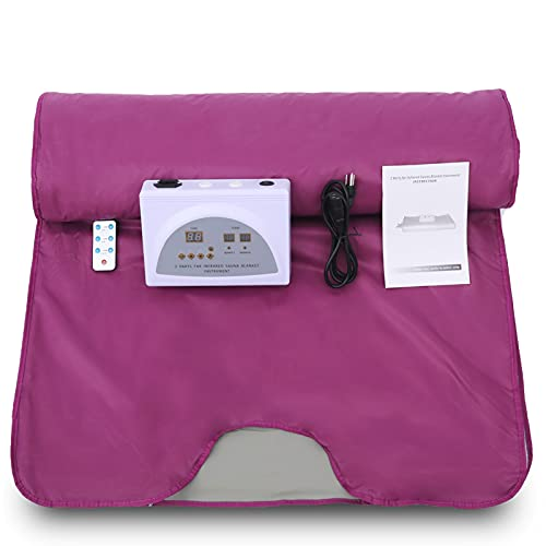 PINJAZE Infrared Portable Personal Sauna Blanket,71(L)×32(W)Inches...