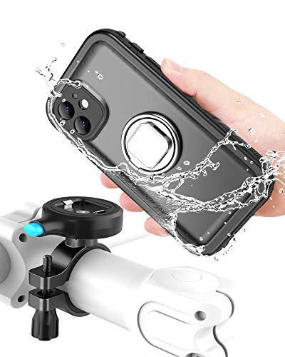 Cozycase Soporte Movil Bicicleta Compatible con iPhone 12 Mini - con Funda estanca, Teléfono Aluminio Manillar de Bicicleta de Montaje (iPhone 12 Mini (5,4'))