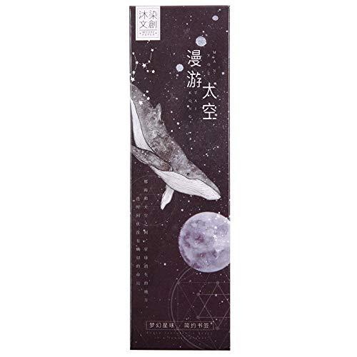 しおり ブックマーク ブックマーカー 惑星 宇宙 地球 月 海王星 金星 土星 木星 火星 飛行士 くじら 夜空 星 | メッセージカード としても | 30枚セット