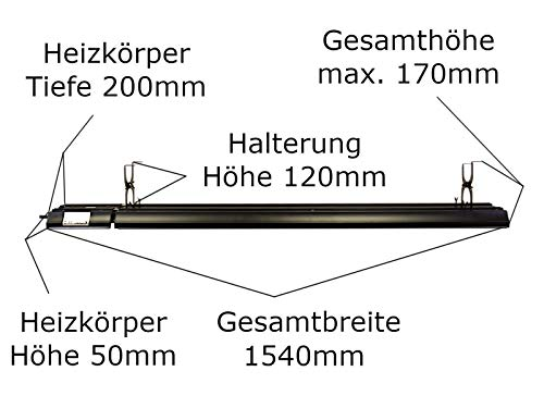 Heizstrahler Infrarot Dunkelstrahler Bild 5*
