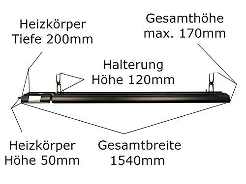 Heizstrahler Infrarot Dunkelstrahler Bild 3*