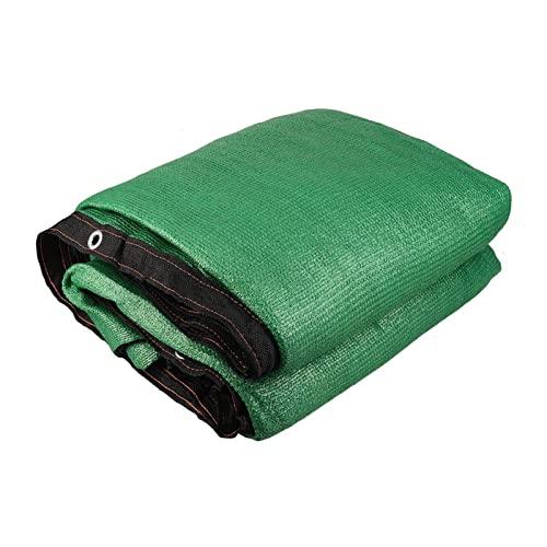 HMBJFBD 15M Wind Sunshade Net Shelter Pantalla de privacidad Costura Hebilla Toldo al Aire Libre Balcón Jardín Cubierta de Cerca (Color : Green 1.5x15m)