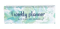 UNDATED WEEKLY PLANNER : Includes 52 undated weekly planner sheets to cover the entire year and is perfect for home or office use DAILY WEEKLY PLANNER: Each sheet has Monday through Sunday titled and space within each box to include weekly plans or a...