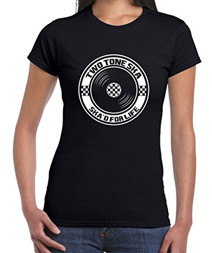 Two Tone Ska'd For Life Back Tee for Women