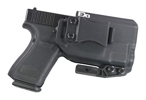 FDO Industries IWB Kydex Holster Compatible with Glock 19 23 32 w/ TLR7 Optic Cut-The Paladin Series -Made in USA- (Black)