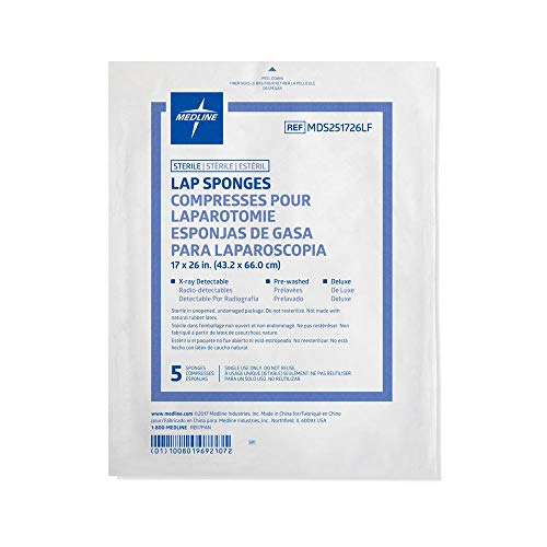 Medline MDS251726LF Sponge, Lap, 17