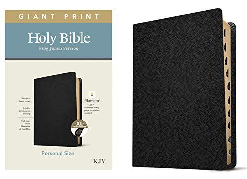 KJV Personal Size Giant Print Holy Bible (Red Letter, Genuine Leather, Black, Indexed): Includes Free Access to the Filament Bible App Delivering Study Notes, Devotionals, Worship Music, and Video