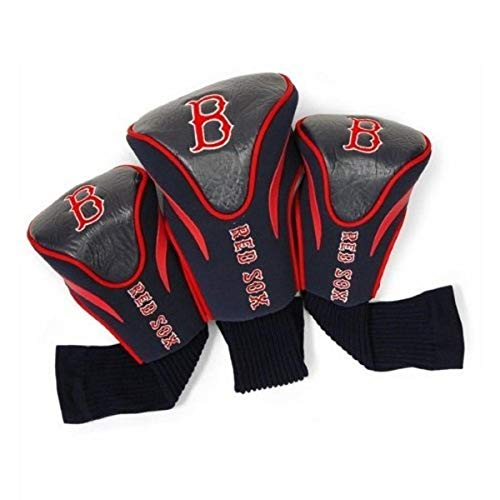 Team Golf MLB Boston Red Sox Contour Golf Club Headcovers (3 Count), Numbered 1, 3, & X, Fits Oversized Drivers, Utility, Rescue & Fairway Clubs, Velour lined for Extra Club Protection,Navy
