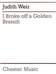 Judith Weir: I Broke Off A Golden Branch (Score And Parts). Partitions pour Musique De Chambre, Instruments À Cordes, Piano De Chambre