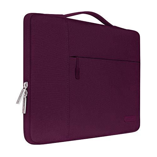 MOSISO Funda Blanda Compatible con 13-13,3 Pulgadas MacBook Air/MacBook Pro Retina/Ordenador Portátil, Poliéster Maletín Protectora Multifuncional Bolso, Vino Rojo