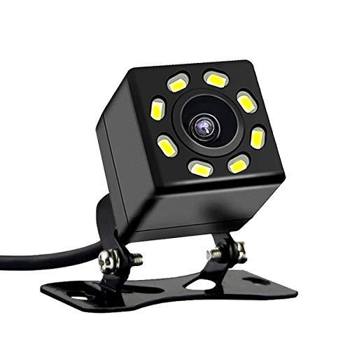 Cámara Trasera HD para automóvil Cámara de Respaldo para automóvil con súper visión Nocturna IP67 Cámara de Vista Trasera sísmica a Prueba de Agua Vista Gran Angular para automóvil (8 Lights)