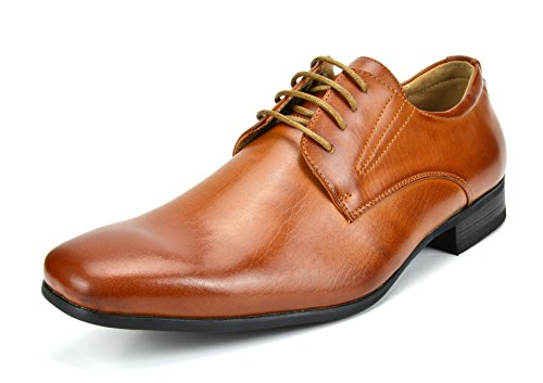 Bruno Marc Men's Gordon-03 Brown Classic Modern Formal Oxfords Lace Up Leather Lined Snipe Toe Dress Shoes - 11 M US