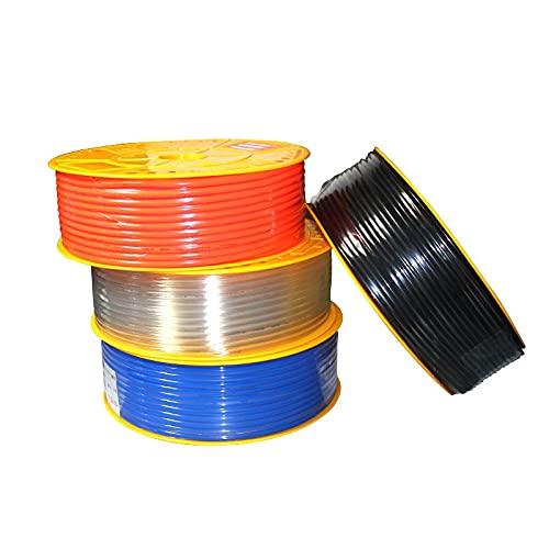 Manguera de poliuretano de línea de aire OD de componente neumático de alta presión de PU para compresor de un metro 4x2.5 6x4 8x510x6.512x814x1016x12mm-Negro, 1 metro, 4x2.5mm