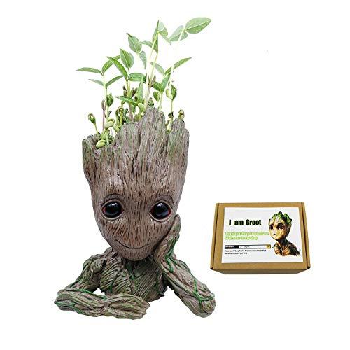 GuangTouL Groot Action-Figuren Wächter der Galaxy Blumentopf Baby Cute Modell Spielzeug Pen Pot