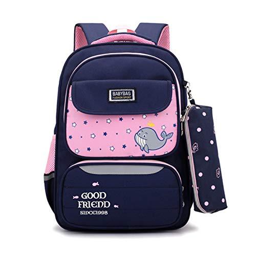 LYZJDP Backpacks, Schoolbags for Elementary School Students, Cartoon School Backpacks for Girls, Oxford Cloth Lightening Backpacks