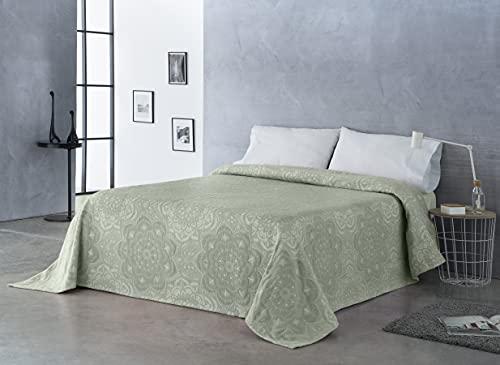 Sibiles - Colcha y Manta para Cama Estampado Mandalas Cama 135, Cama 150 y Cama 160 (240x260 cm, Verde)
