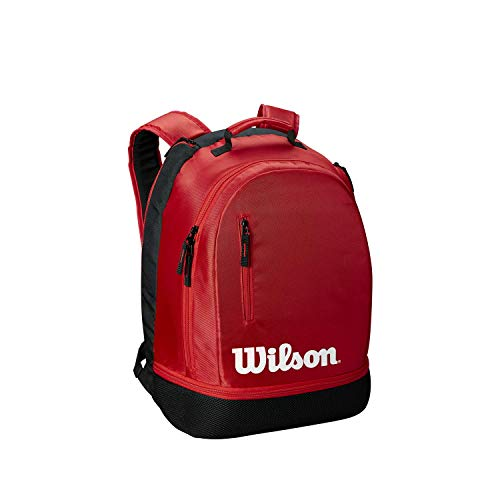 Wilson Tennis Backpack Team, Up to 2 Racquets, Red/Black/White, WRZ857996