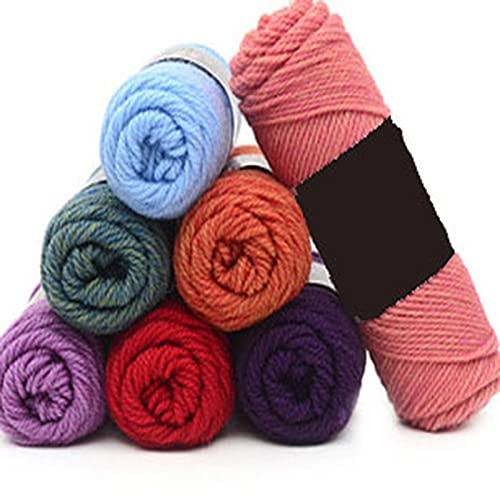 Ovillo de ganchillo romántico, 100 g/ovillo, súper grueso, cálido, duradero, doble tejido de lana...