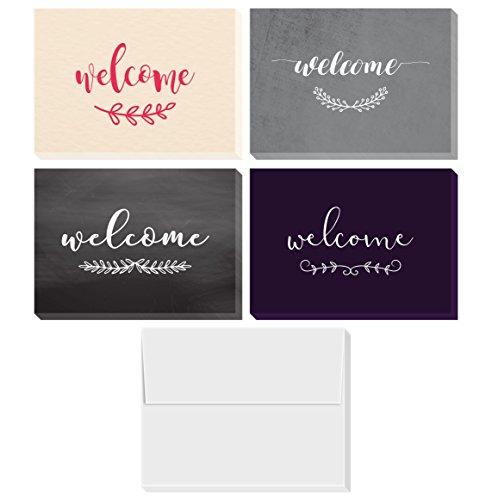 Willkommenskarten-Set   enthält 36 verschiedene Grußkarten und Umschläge, blanko auf der Innenseite, 10,2 x 15,2 cm.