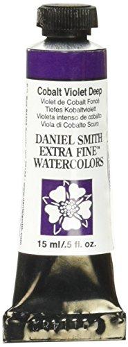 Daniel Smith 384600031 Extra Fine Watercolor 15ml Paint Tube, Cobalt Violet Deep
