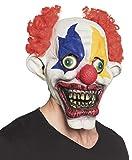 Boland 97570 Latex Kopfmaske Bad Clown mit Haar, Mehrfarbig